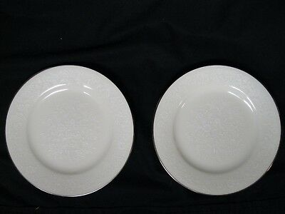 Noritake Affection 7192, Bread and Butter/Desert Plate, White/Platinum/Floral