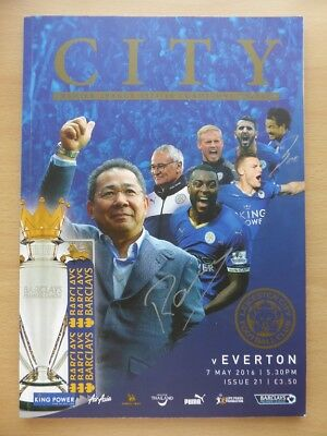 Leicester v Everton Champions Edition Programme Signed Claudio Ranieri (10744)