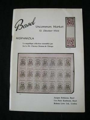 Robson Lowe Auction Catalogue 1966 Hispaniola 'henman' Collection