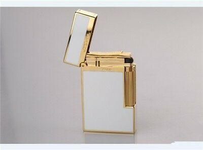 Classic Dupont Cigar Lighter Chinese Lacquer White gold FINISH Iconic Ping Sound
