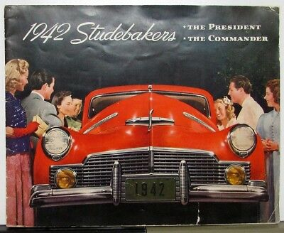 1942 Studebaker President & Commander Color Sales Brochure XL Original
