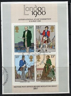 GB = 1979 `Sir Rowland Hill` set of 1. SG MS1099. Ex FDC. Fine Used (a)