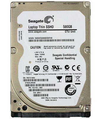 """Seagate 2.5"""" 500GB 64MB ST500LM000 SSHD (Solid State Hybrid) Hard Drive Silm 7mm"""
