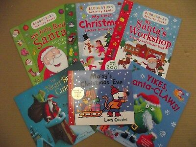 Christmas Story and Activity Book Set / Pack  6 Books Stickers and CD RRP:£34.94