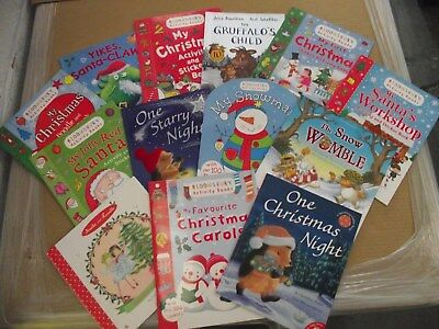 Christmas Story and Activity Book Set / Pack 13 Books 1400 Stickers RRP: £80.87!