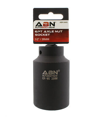 """ABN Axle Nut Socket 1/2"""" Inch Drive Universal for 6pt Axle Nut on Vehicles"""