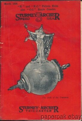1928 Sturmey-Archer Tricoaster Bicycle Hub Booklet
