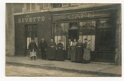 CARTE PHOTO, COMMERCE.CAFE RESTAURANT BUVETTE MAGASIN. TRES ANIMéE.