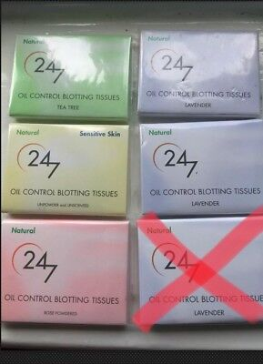 24/7 Oil Control Blotting Tissues - Sold Individually