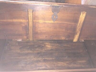 Antique solid oak chest