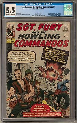 Sgt. Fury and His Howling Commandos #1 CGC 5.5 (OW-W) 1st Nick Fury