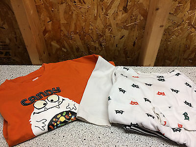 Gymboree & Gap boys Halloween monster shirt & girls cat mask pajamas size 5T