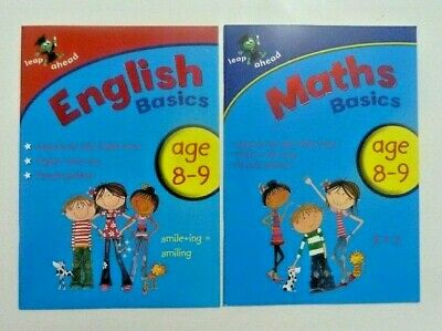 LeapAhead English & Maths Learning Workbook Children Age 8-9 KS2 Year 4 Primary