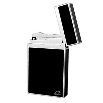 Dupont Cigar Lighter Ligne 2 Chinese Black Lacquer Cling Sound #013 Black&Silver