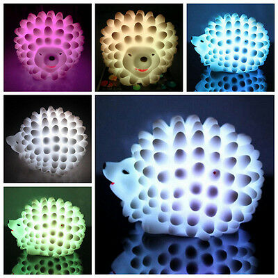 Hot Hedgehog-Shaped Night Light Color Changing LED Lamp Home Party Xmas Gift Toy