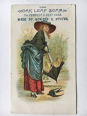 Victorian Trade Card Oak Leaf Soap The Perfect 5 Cent Cake Gowans & Stover