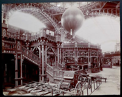 Photo Exposition Universelle - Grand Palais 1900 - Tirage citrate 40x50 -