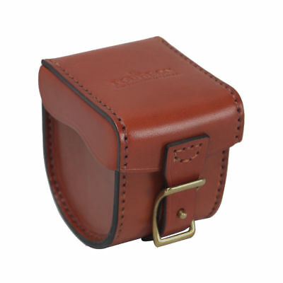 Tourbon Leather Fly Fishing Reel Case Storage - Small