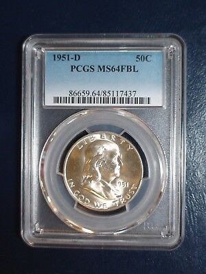 1951 D FRANKLIN HALF DOLLAR PCGS MS64 FBL 50C Coin PRICED FOR QUICK SALE