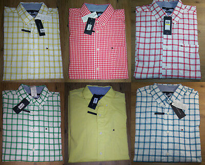 Tommy Hilfiger Men Long Sleeve Classic Fit Button Down Shirt Size M, L NEW