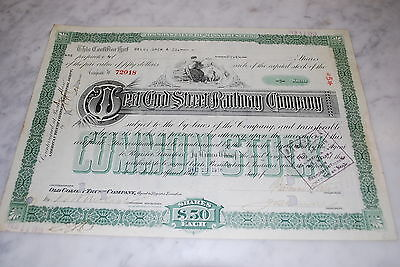 Stock Certificate - West End Street Railway Company – Massachusetts 1918
