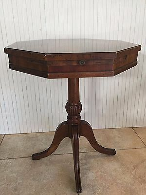 "Vintage Heritage Furniture Hexagon Side Table, 24"" Tall x 21 1/2"" Widest, 17 Lbs"