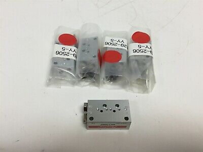 Lot of 5 New Humphrey H010M2F Valve Manifolds, 2 x Valve Mounts Per Block