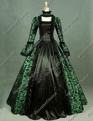 Renaissance Victorian Vintage Cosplay Prom Gown Steampunk Theatre Clothing N 119