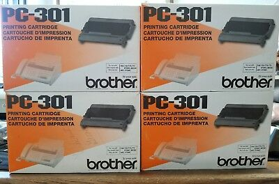 Lot of 4 Genuine Brother PC-301 Printing Cartridges Fax 750 770 775 NEW Unused
