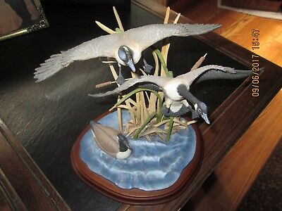 Hasty Retreat from The Danbury Mint Canada Geese Sculpture