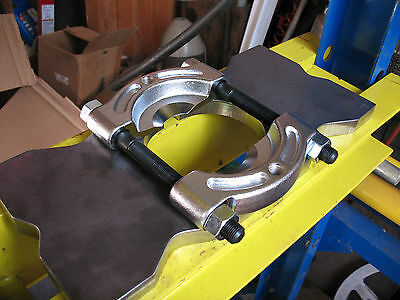 "3 Pc Set 4 Notch Shop Arbor PRESS PLATES 7"" X 7"" Bed Bars + BEARING SEPARATOR"