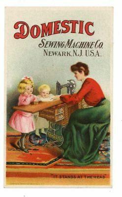 DOMESTIC SEWING MACHINE CO, Victorian Trade Card, 281, Newark New Jersey