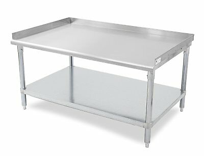 John Boos E Series Stainless Steel 430 Equipment Stand with 1.5 inch Rear and Si