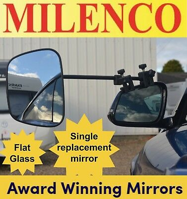 1 x Milenco Grand Aero 3 Flat Glass Towing Mirror Single Mirror Head/Arm/Clamp