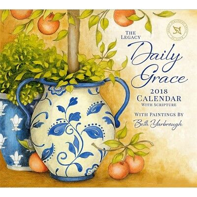 NEW Daily Grace Beth Yarbrough 2018 Legacy Calendar With Scripture Free Postage