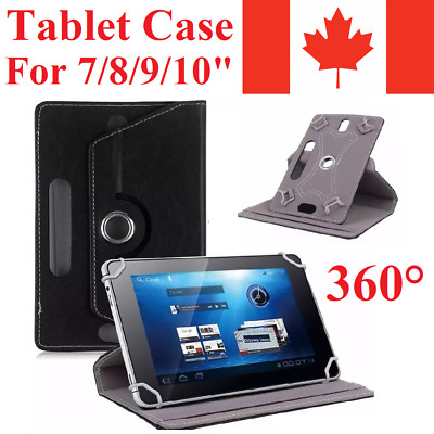 Universal Rotating Leather Case Cover For Apple iPad & Samsung Tablet Tab