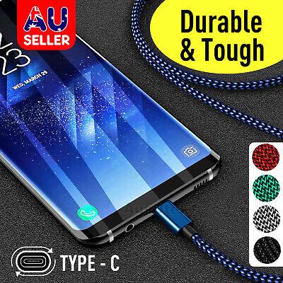 2x Type-C Cable Data Fast Charger Cord For Samsung S8 S9 S10 Plus + S10e Note 9