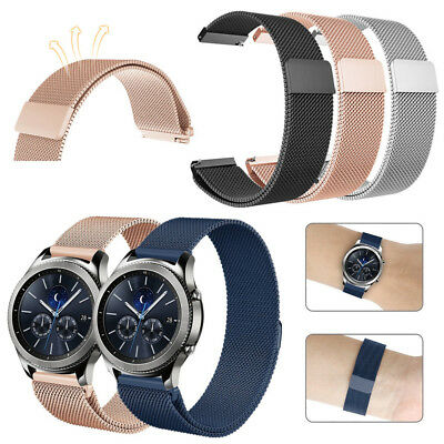 For Samsung Gear S3 Classic / Frontier Stainless Steel Strap Band Magnet Lock