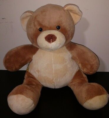 "EUC - ""BAB"" Build a Bear 14"" Plush Tan/Beige Teddy Bear Plush Stuffed Animal"