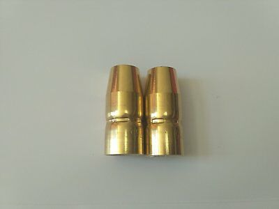 2 Plug-in Gas Nozzles 169715 for Miller M-10/M-15/M-100/M-150,Hobart H-10,H-14
