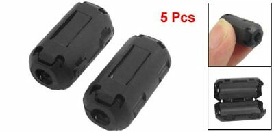 5 Pcs Clip On Noise Suppressor 3.5mm Cable Ferrite Core Filters PK
