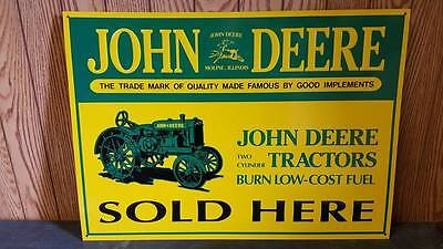 JOHN DEERE TRACTORS  SOLD HERE!  3D 1990'S ORIGINAL VINTAGE METAL SIGN  On SALE!