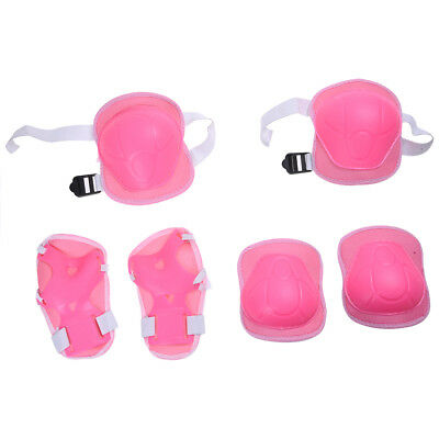 Kids Sports Knee Wrist Elbow Support Protector Pink PK