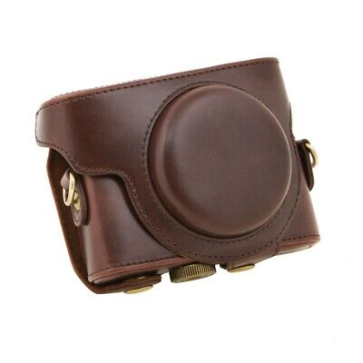 For Sony DSC-RX100 Camera Case PU Leather Case with Shoulder Belt (coffee) PK