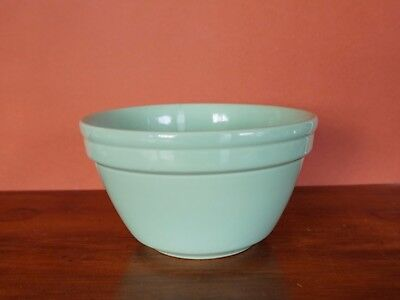 Vintage Green Fowler Ware Bowl Size 30 16cm crazing