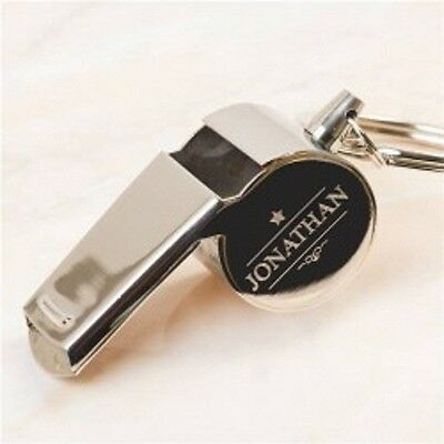 Personalised Broadway Stainless Steel Whistle