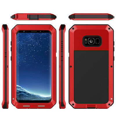 Shockproof Aluminum Military Bumper For Samsung Galaxy S8 / S8 Plus metal Case