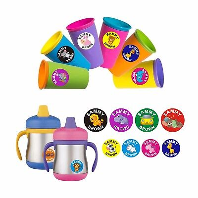 Kids Fun Cool Personalised Name Labels School Toys Childcare Books Stickers 30mm