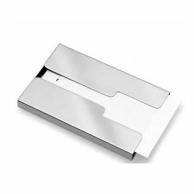 New Stainless Steel Thumb Slide Out Business Name Credit Card Holder Pocket PF