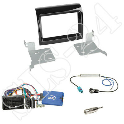 Fiat Ducato (Facelift) ab 2016 2-DIN Blende piano + Kenwood LFB-Adapter